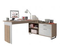 Cantus Eck-Schreibtisch MANAGER,Holznachbildung,Eiche sägerau/sonoma