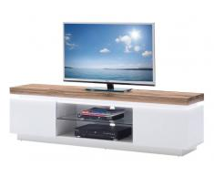 TV-Lowboard ROMINA,Holznachbildung,Weiß