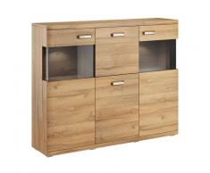 Set one by Musterring Highboard SET ONE MADISON,Holznachbildung,eiche
