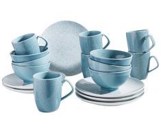 Zurbrüggen Kaffeeservice 18-tlg.,Porzellan,blau