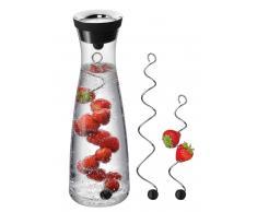 WMF Wasserkaraffe + 2 Fruchtspieße BASIC,Glas,klar