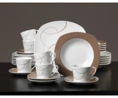 Ritzenhoff Kaffeeset 18-tlg. Alina Marron ALINA,Porzellan,braun