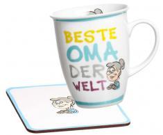 Ritzenhoff & Breker Kaffeebecher mit Untersetzer KABE M/U,Porzellan,multicolour