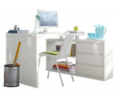 XORA Eck-Schreibtisch MICHA,Holznachbildung,Weiß