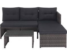 XORA Lounge-Set KIEL,Kunststoff,braun