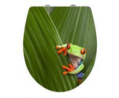 Zurbrüggen WC-Sitz Hochglanz Acryl Frog,Duroplast,multicolour