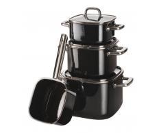 Silit Topf-Set 4tlg. Quadro Black QUADRO,Glas,schwarz