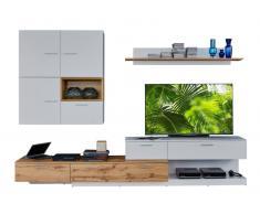 Ti´me Wohnwand ASTON,Holznachbildung,Weiß