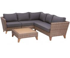 Ambia Lounge Set LIVORNO,Kunststoff,braun