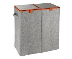 Zurbrüggen Wäschesammler Filz Duo Orange,Polyester,grau