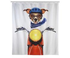 Zurbrüggen Duschvorhang Biker Dog,Polyester,multicolour
