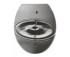 Zurbrüggen WC-Sitz Waterdrop Grau,Duroplast,multicolour