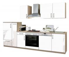 Menke Küchen Küchenblock Premium,Holznachbildung,Weiß