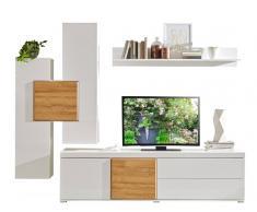Z2 Wohnwand INTRA,Holznachbildung,Weiß