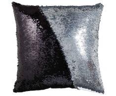 Zierkissen Glitter,Polyester,schwarz/ silber