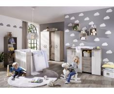 MyBaby Babyzimmer TONI,Holznachbildung,weiß/grau