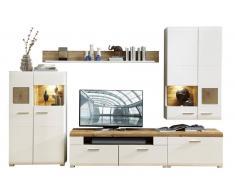 Z2 Wohnwand FUN PLUS,Holznachbildung,Weiß