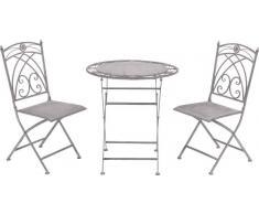 Ambia Balkon-Set BELLA,Metall,Weiß