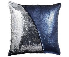 Zierkissen Glitter,Polyester,blau