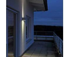 Albert Wandstrahler mit LED B: 14 H: 15 T: 16 cm, silber 692307, EEK: A+