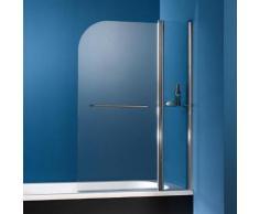 HSK Exklusiv Badewannenaufsatz 2-teilig B: 100 H: 140 cm, Ausführung rechts Edelglas, klar hell / chromoptik 448110-41-50#EdRe