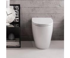 Globo 4ALL Stand-Tiefspül-WC L: 54 B: 36 H: 43 cm weiß, mit CERASLIDE® und BATAFORM® MD002BI