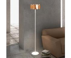 Milan Obolo LED Stehleuchte Ø 30,1 H: 150,9 cm, kupfer/satin 6496+2692, EEK: A+. Diese Leuchte enthält eingebaute LED-Lampen. A++ (LED), A+ (LED), A (LED). Die Lampen können in der Leuchte nicht ausgetauscht werden.