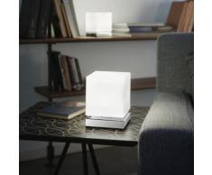 Fabas Luce Brenta LED Tischleuchte mit Dimmer B: 11 H: 14 T: 11 cm, chrom/weiß 3407-30-138, EEK: A+