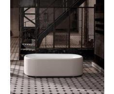 Bette Lux Oval Couture freistehende Badewanne L: 180 B: 80 H: 58 cm Wanne weiß, mit Antirutsch, Schürze ivory, Ablaufgarnitur chrom 3466-000TXAR+B601-901+B804-850