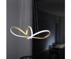 Wofi Missoni LED Pendelleuchte mit Dimmer B: 92 H: 150 cm, gold matt/weiß 617101156000, EEK: A+
