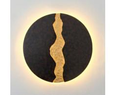 Holländer Lava LED Wandleuchte Ø 80 T: 4 cm, braun/schwarz/gold 300 K 13235, EEK: A+