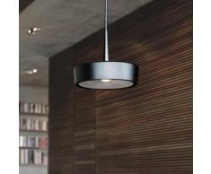 RIBAG ARVA Draft & Craft LED dimmbar Pendelleuchte mit Linse 3000k Ø 14 H: 250 cm, schwarz/lava 4111.120.30.13+S4111.120.01.2.303, EEK: A+