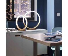 Wofi Soul LED Tischleuchte mit Dimmer Ø 40 H: 42 cm, gold/weiß 8117.01.15.6400, EEK: A+