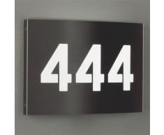 Albert Edelstahl Hausnummernleuchte mit LED B: 28 H: 20 T: 3,5 cm 696009, EEK: A+