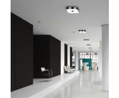 belux koi-q LED Deckenleuchte 3000K B: 40 H: 7,9 cm, chrom KOIQ20-11-8030-DD, EEK: A+. Diese Leuchte enthält eingebaute LED-Lampen. A++ (LED), A+ (LED), A (LED). Die Lampen können in der Leuchte nicht ausgetauscht werden.