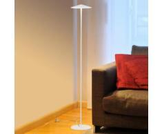 Milan Pla LED Stehleuchte Ø 20 H: 120,5 cm, weiß matt 6602, EEK: A+. Diese Leuchte enthält eingebaute LED-Lampen. A++ (LED), A+ (LED), A (LED). Die Lampen können in der Leuchte nicht ausgetauscht werden.