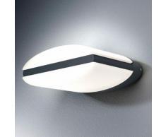 Osram Endura Style Ellipse LED Wandleuchte B: 18,6 H: 7,5 T: 16,1 cm, dunkelgrau 4058075033337, EEK: A+
