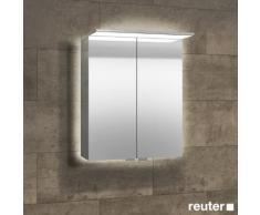 Sprinz Modern-Line Aufputz Spiegelschrank mit Paneel-Beleuchtung B: 60 H: 70 T: 16,9 cm mit Hintergrundbeleuchtung M02060029AM29A+Panel600+RW0600, EEK: A+