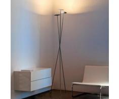 Vibia Skan LED Stehleuchte 3-flammig mit Dimmer B: 43 H: 198 T: 37,5 cm, graphit matt/satiniert 026018/15, EEK: A+. Diese Leuchte enthält eingebaute LED-Lampen. A++ (LED), A+ (LED), A (LED). Die Lampen können in der Leuchte nicht ausgetauscht werden.