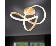 Wofi Indigo LED Deckenleuchte B: 59 H: 29 cm, gold matt 9134.01.15.7000, EEK: A+