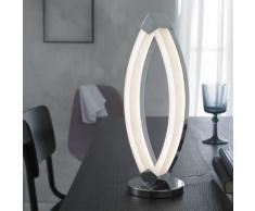Wofi Vannes LED Tischleuchte mit Dimmer Ø 12,5 H: 39 cm, chrom/satiniert 8625.01.01.0000, EEK: A+