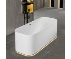 Villeroy & Boch Finion freistehende Badewanne mit Emotion-Funktion L: 170 B: 70 H: 63,3 cm weiß, champagner, mit Design-Ring UBQ177FIN7A200V101, EEK: A+. Diese Badewanne enthält eingebaute LED-Lampen. A++ (LED), A+ (LED), A (LED). Die Lampen können in...