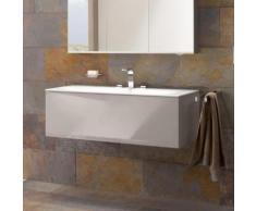 Keuco Edition 11 Waschtischunterschrank mit LED-Innenbeleuchtung B: 140 H: 35 T: 53,5 cm, 1 Auszug Front Glas cashmere/Korpus Lack cashmere seidenmatt 31361180100, EEK: A+
