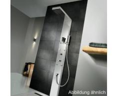 HSK Duschpaneel Lavida B: 210 H: 2200 T: 670 mm freihängende Regentraverse edelstahl poliert/Glasfront weiß 1900011-42