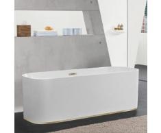Villeroy & Boch Finion freistehende Badewanne L: 170 B: 70 H: 63,3 cm weiß, champagner, mit integriertem Wassereinlauf, mit Design-Ring UBQ177FIN7N200V201