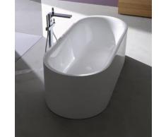 Bette Lux Oval Silhouette freistehende Badewanne L: 170 B: 75 H: 57,5 cm Wanne weiß, mit BetteGlasur Plus, Ablaufgarnitur weiß 3465-000CFXXS,PLUS+B601-000