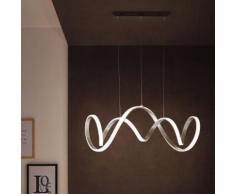 Wofi Toronto LED Pendelleuchte B: 102 H: 150 T: 40 cm, aluminium gebürstet/weiß 7095.01.63.7000, EEK: A+