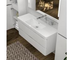 Treos Serie 920 Waschtisch mit Waschtischunterschrank B: 119,8 H: 55 T: 47,7 cm, 2 Auszüge ohne Hahnloch 921.05.1202