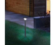 Osram Endura Style Lantern Solar/AC LED Pollerleuchte Ø 21,3 H: 90 cm, dunkelgrau 4058075032521, EEK: A+