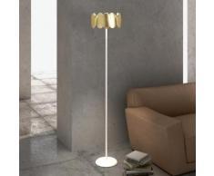 Milan Obolo LED Stehleuchte Ø 30,1 H: 150,9 cm, gold/satin 6496+2392, EEK: A+. Diese Leuchte enthält eingebaute LED-Lampen. A++ (LED), A+ (LED), A (LED). Die Lampen können in der Leuchte nicht ausgetauscht werden.